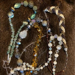 Lot of Handbeaded necklaces